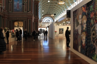 Melbourne Art Fair August 2014 at Royal Exhibition Building Melbourne Australia Photo taken by Karen Robinson whilst visiting IMG_0377.JPG