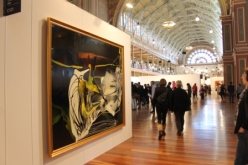 Melbourne Art Fair August 2014 at Royal Exhibition Building Melbourne Australia Photo taken by Karen Robinson whilst visiting IMG_0445.JPG