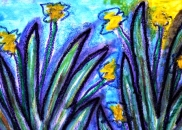 3 - Art Therapy Session No. 5 'Going to a safe place!' Painting by Abstract Artist Karen Robinson Sept 2014 NB All images are protected by copyright laws! .JPG