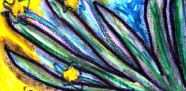 4 - Art Therapy Session No. 5 'Going to a safe place!' Painting by Abstract Artist Karen Robinson Sept 2014 NB All images are protected by copyright laws! .JPG