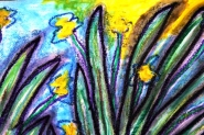 9 - Art Therapy Session No. 5 'Going to a safe place!' Painting by Abstract Artist Karen Robinson Sept 2014 NB All images are protected by copyright laws! .JPG