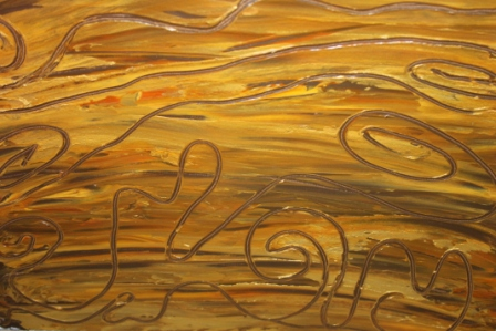 No. 1 Creative Writing & Abstract Painting 'Treasured Memories' Acrylic Paint on A3 HW Paper by Karen Robinson NB All images are protected by copyright laws.JPG
