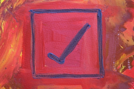 No. 4 Creative Writing & Abstract Painting 'The Happy Box!' Acrylic Paint on A3 HW Paper by Karen Robinson Oct 2014 NB All images are subject to copyright law.JPG