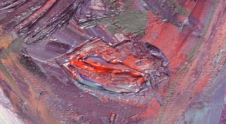 No. 5 Creative Writing & Abstract Painting 'The Face Mask' Acrylic Paint on A3 HW Paper by Karen Robinson Nov 2014 NB All images are subject to copyright laws.JPG