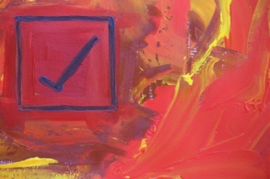 No. 5 Creative Writing & Abstract Painting 'The Happy Box!' Acrylic Paint on A3 HW Paper by Karen Robinson Oct 2014 NB All images are subject to copyright law.JPG