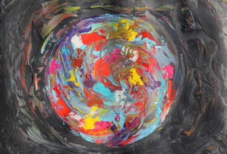 Image No. 1 - Art & Creative Writing 'The Art of Peace' by Karen Robinson - Abstract Artist 20-12-2014 Acrylic Paint on HW Paper NB All images are subject to copyright laws.JPG