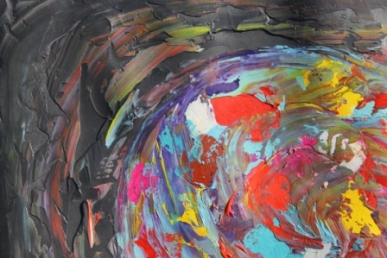 Image No. 2 - Art & Creative Writing 'The Art of Peace' by Karen Robinson - Abstract Artist 20-12-2014 Acrylic Paint on HW Paper NB All images are subject to copyright laws.JPG