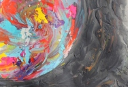 Image No. 3 - Art & Creative Writing 'The Art of Peace' by Karen Robinson - Abstract Artist 20-12-2014 Acrylic Paint on HW Paper NB All images are subject to copyright laws.JPG