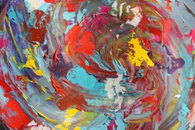 Image No. 5 - Art & Creative Writing 'The Art of Peace' by Karen Robinson - Abstract Artist 20-12-2014 Acrylic Paint on HW Paper NB All images are subject to copyright laws.JPG