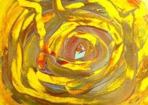 No. 1 Creative Writing Session 6 & Abstract Painting 'Pools of Strength' Acrylic Painting on A3 HW Paper by Karen Robinson NB All images are protected by copyright laws.JPG