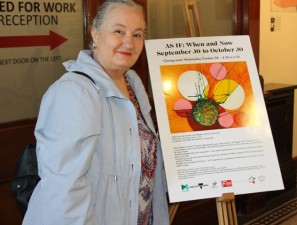 No. 17 of 28 Group Exhibition titled 'AS IF When and Now' Women's Art Register at Queen Victoria Women's Centre Melbourne Photographed by Hubby of Karen Robinson Abstract Artist 1.10.2015 - Copy.JPG
