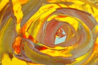 No. 2 Creative Writing Session 6 & Abstract Painting 'Pools of Strength' Acrylic Painting on A3 HW Paper by Karen Robinson NB All images are protected by copyright laws.JPG.JPG