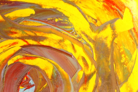 No. 4 Creative Writing Session 6 & Abstract Painting 'Pools of Strength' Acrylic Painting on A3 HW Paper by Karen Robinson NB All images are protected by copyright laws.JPG.JPG