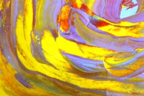 No. 5 Creative Writing Session 6 & Abstract Painting 'Pools of Strength' Acrylic Painting on A3 HW Paper by Karen Robinson NB All images are protected by copyright laws.JPG.JPG