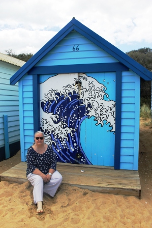 Karen Robinson at Dendy Street Beach - Australia Day Weekend 2015 - Photo taken by Hubby.JPG