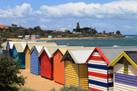 No. 3 Brighton Bathing Boxes at Dendy Street Beach Australia Day Weekend 2015 Photo taken by Karen Robinson.JPG