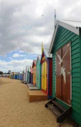 No. 4 Brighton Bathing Boxes at Dendy Street Beach Australia Day Weekend 2015 Photo taken by Karen Robinson .JPG