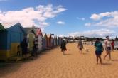No. 6 Brighton Bathing Boxes at Dendy Street Beach Australia Day Weekend 2015 Photo taken by Karen Robinson.JPG