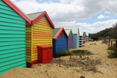 No. 7 Brighton Bathing Boxes at Dendy Street Beach Australia Day Weekend 2015 Photo taken by Karen Robinson.JPG