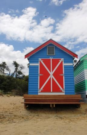 No. 78 Brighton Bathing Boxes - Melbourne -Australia Day Weekend 2015 Photographed by Karen Robinson.JPG