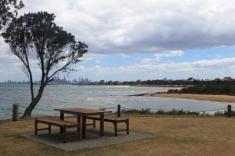 No. 8 Brighton Bathing Boxes at Dendy Street Beach Australia Day Weekend 2015 Photo taken by Karen Robinson.JPG