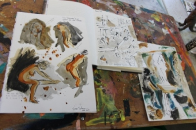 View No. 1 - Karen Robinson's ink drawings created in Marco Luccio's arts session on creating powerful & expressive drawings Feb 2015.JPG