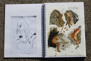 View No. 4 - Karen Robinson's ink drawings created in Marco Luccio's arts session on creating powerful & expressive drawings Feb 2015.JPG