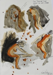 View No. 5 - Karen Robinson's ink drawings created in Marco Luccio's arts session on creating powerful & expressive drawings Feb 2015.JPG