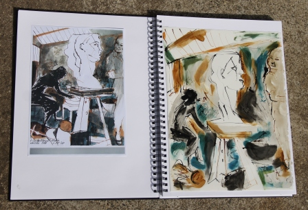 "View No. 6 ""Interiors"" - Karen Robinson's ink drawings created in Marco Luccio's arts session on creating powerful & expressive drawings Feb 2015.JPG NB: All images are protected by copyright laws"