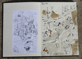 View No. 8 - Karen Robinson's ink drawings created in Marco Luccio's arts session on creating powerful & expressive drawings Feb 2015.JPG