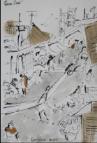 View No. 9 - Karen Robinson's ink drawings created in Marco Luccio's arts session on creating powerful & expressive drawings Feb 2015.JPG