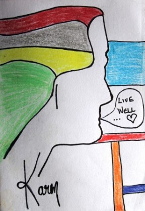 No. 1 Art Therapy Group Session 5- Exercise 'Group Booklet Making' Art Work created by all participants March 2015 NB All images are subject to copyright.JPG