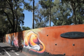 No. 12-21 KAFF-EINE Melbourne Street Art Fitzroy - Smith Reserve on Alexander Parade - Photographed by Karen Robinson.JPG