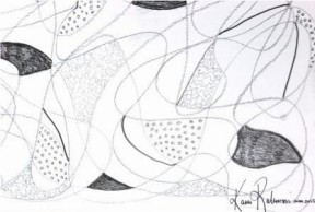 No. 4 Art Therapy Group Session 5- Exercise 'Zentangle Art Marking' Art Work created by Abstract Artist Karen Robinson March 2015 NB All images are subject to copyright laws .JPG