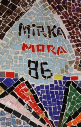 No. 1 of 70 images of MIRKA MORA'S FLINDERS ST STATION MURAL – Melbourne Australia Photographed by Karen Robinson 18th April 2015 NB All images are subject to copyright laws