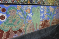 No. 11 of 70 images of MIRKA MORA'S FLINDERS ST STATION MURAL – Melbourne Australia Photographed by Karen Robinson 18th April 2015 NB All images are subject to copyright laws