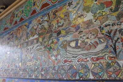 No. 17 of 70 images of MIRKA MORA'S FLINDERS ST STATION MURAL – Melbourne Australia Photographed by Karen Robinson 18th April 2015 NB All images are subject to copyright laws