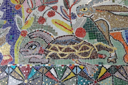 No. 20 of 70 images of MIRKA MORA'S FLINDERS ST STATION MURAL – Melbourne Australia Photographed by Karen Robinson 18th April 2015 NB All images are subject to copyright laws