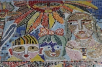 No. 26 of 70 images of MIRKA MORA'S FLINDERS ST STATION MURAL – Melbourne Australia Photographed by Karen Robinson 18th April 2015 NB All images are subject to copyright laws