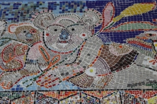 No. 27 of 70 images of MIRKA MORA'S FLINDERS ST STATION MURAL – Melbourne Australia Photographed by Karen Robinson 18th April 2015 NB All images are subject to copyright laws