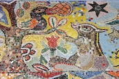 No. 30 of 70 images of MIRKA MORA'S FLINDERS ST STATION MURAL – Melbourne Australia Photographed by Karen Robinson 18th April 2015 NB All images are subject to copyright laws
