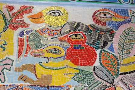 No. 33 of 70 images of MIRKA MORA'S FLINDERS ST STATION MURAL – Melbourne Australia Photographed by Karen Robinson 18th April 2015 NB All images are subject to copyright laws