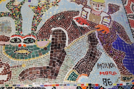No. 34 of 70 images of MIRKA MORA'S FLINDERS ST STATION MURAL – Melbourne Australia Photographed by Karen Robinson 18th April 2015 NB All images are subject to copyright laws