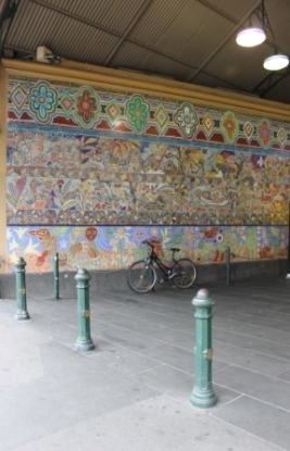 No. 39 of 70 images of MIRKA MORA'S FLINDERS ST STATION MURAL – Melbourne Australia Photographed by Karen Robinson 18th April 2015 NB All images are subject to copyright laws