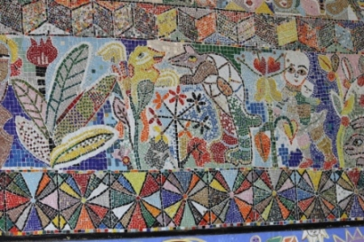 No. 41 of 70 images of MIRKA MORA'S FLINDERS ST STATION MURAL – Melbourne Australia Photographed by Karen Robinson 18th April 2015 NB All images are subject to copyright laws