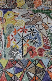 No. 45 of 70 images of MIRKA MORA'S FLINDERS ST STATION MURAL – Melbourne Australia Photographed by Karen Robinson 18th April 2015 NB All images are subject to copyright laws