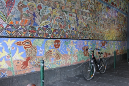 No. 5 of 70 images of MIRKA MORA'S FLINDERS ST STATION MURAL – Melbourne Australia Photographed by Karen Robinson 18th April 2015 NB All images are subject to copyright laws