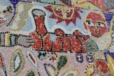 No. 52 of 70 images of MIRKA MORA'S FLINDERS ST STATION MURAL – Melbourne Australia Photographed by Karen Robinson 18th April 2015 NB All images are subject to copyright laws