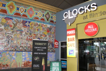No. 67 of 70 images of MIRKA MORA'S FLINDERS ST STATION MURAL – Melbourne Australia Photographed by Karen Robinson 18th April 2015 NB All images are subject to copyright laws