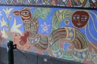 No. 9 of 70 images of MIRKA MORA'S FLINDERS ST STATION MURAL – Melbourne Australia Photographed by Karen Robinson 18th April 2015 NB All images are subject to copyright laws